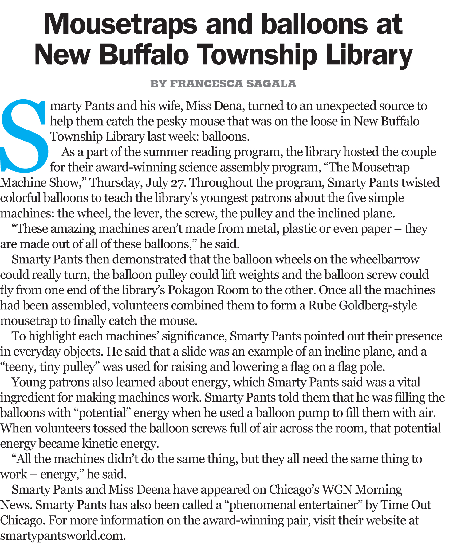 New Buffalo Times Article