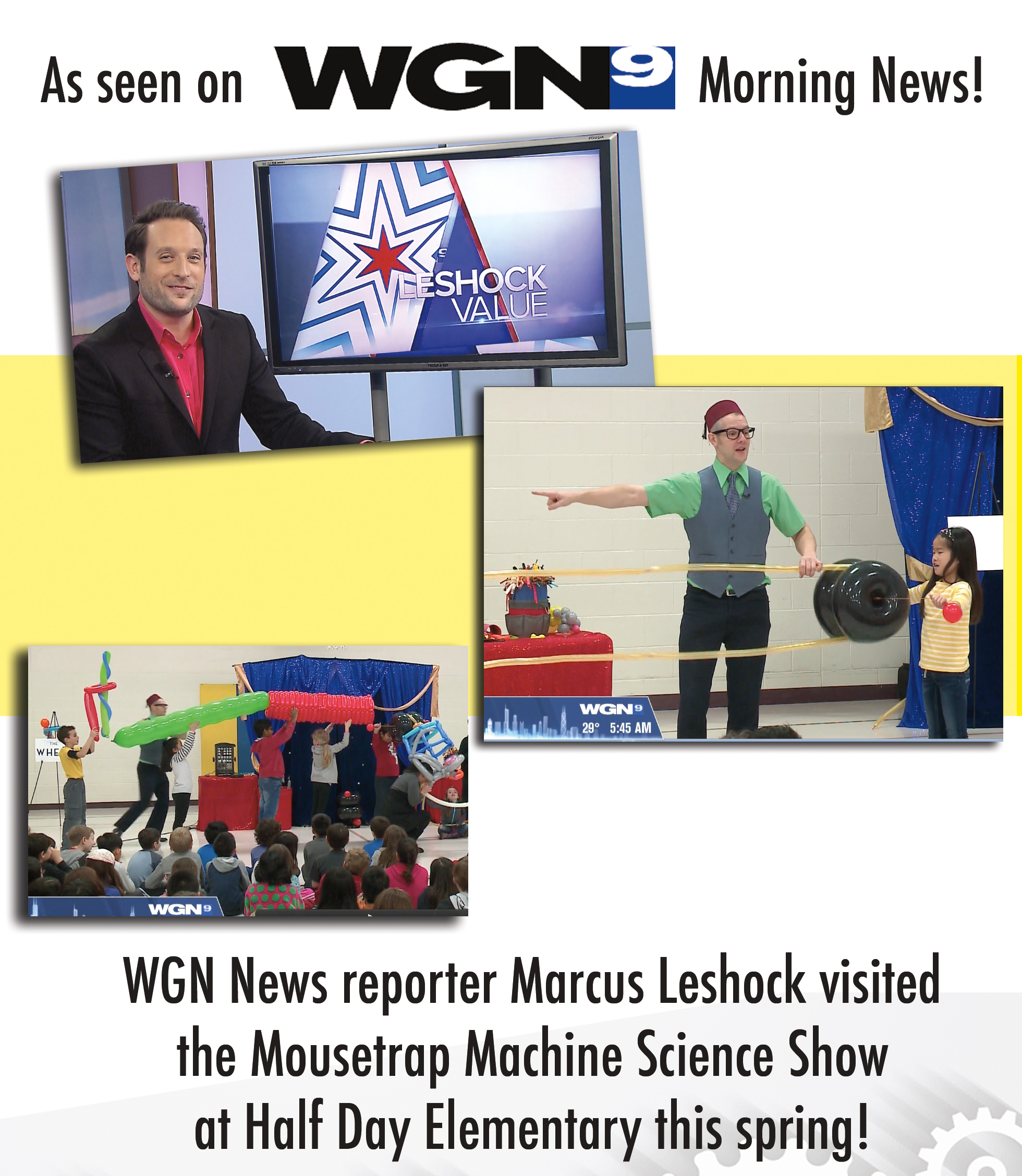 WGN Visits Mousetrap Machine Science Assembly!
